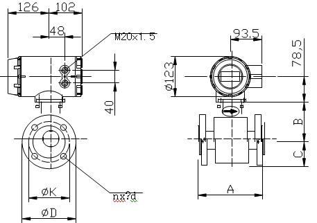 dn6-dn2200分体式电磁流量计